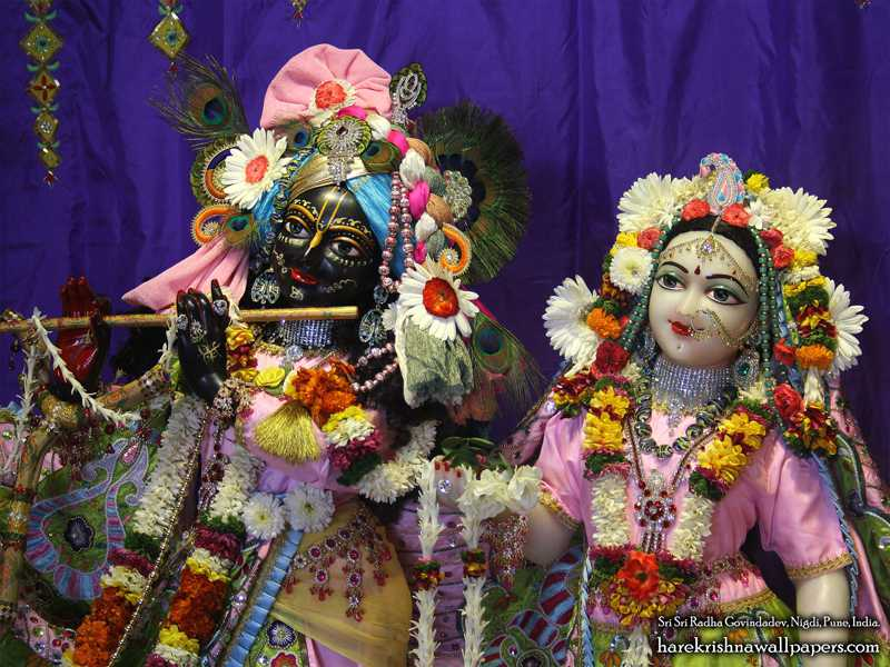 Sri Sri Radha Govind Close up Wallpaper (013)