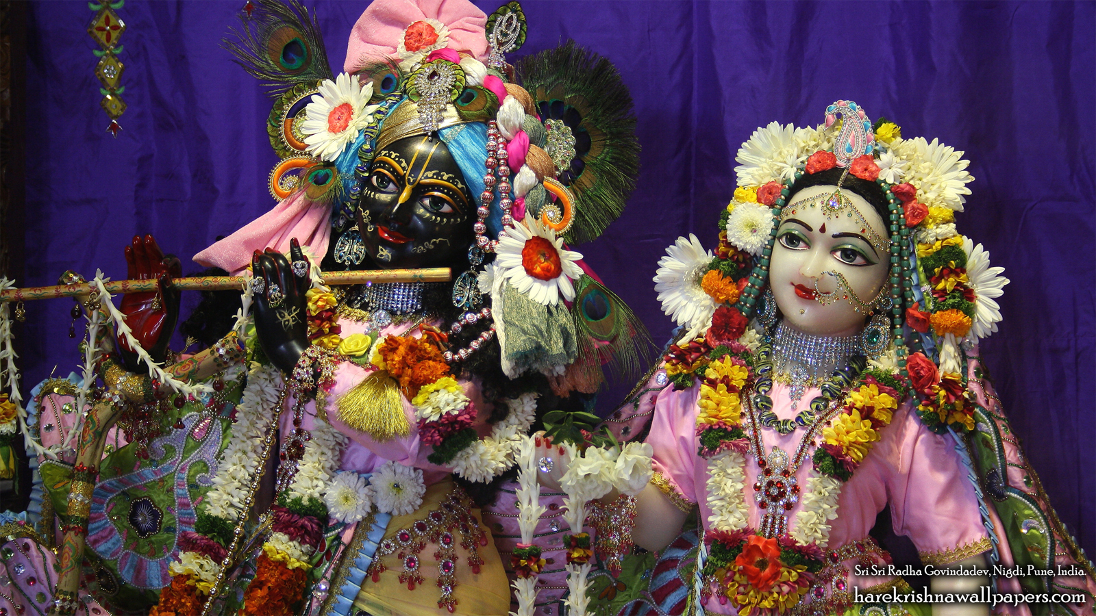 Sri Sri Radha Govind Close up Wallpaper (013) Size 1600x900 Download