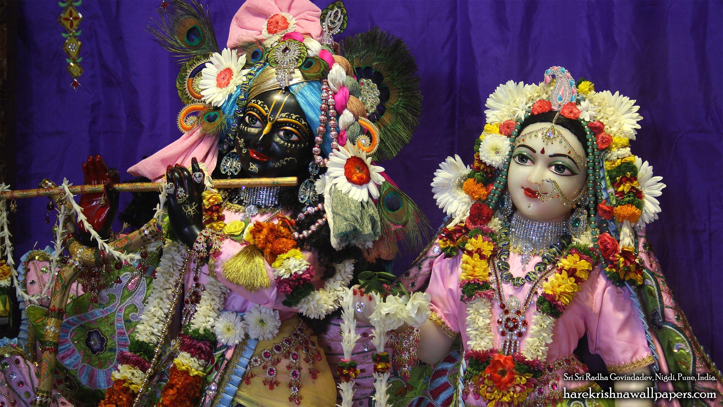 Sri Sri Radha Govind Close up Wallpaper (013) Size 2400x1350 Download