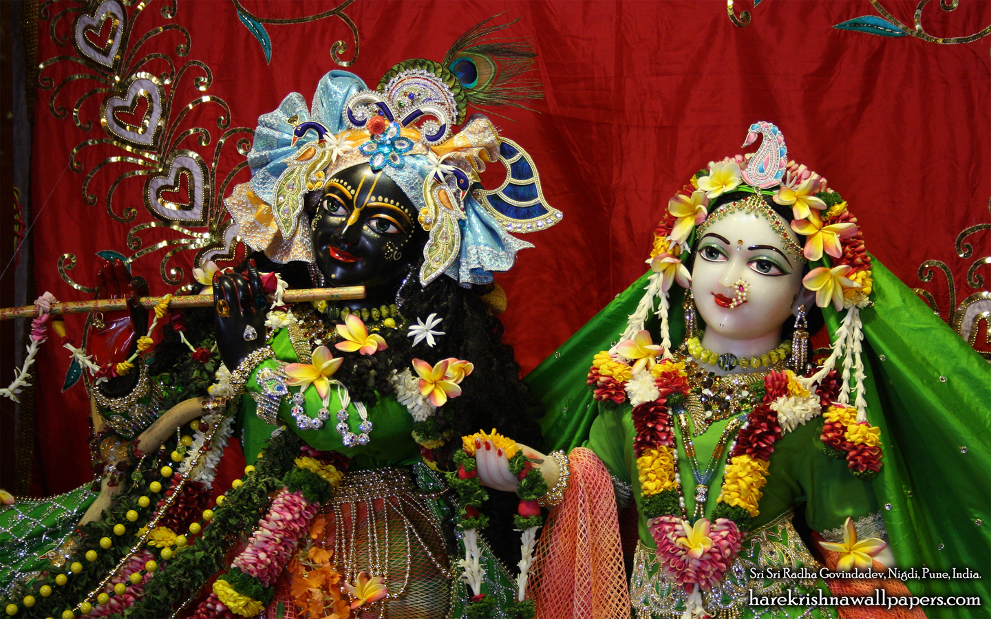 Sri Sri Radha Govind Close up Wallpaper (014) Size 1440x900 Download