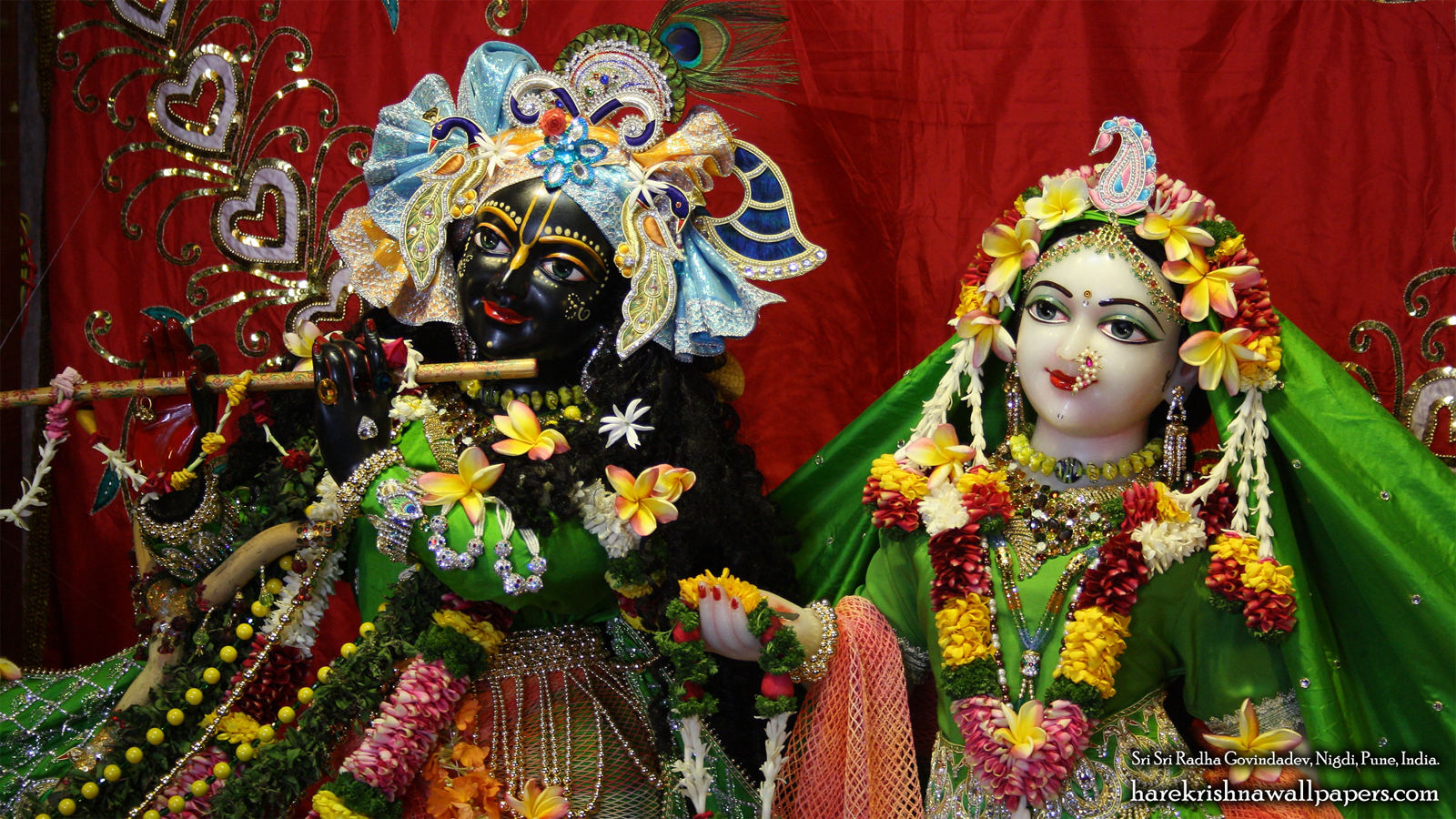 Sri Sri Radha Govind Close up Wallpaper (014) Size 1600x900 Download
