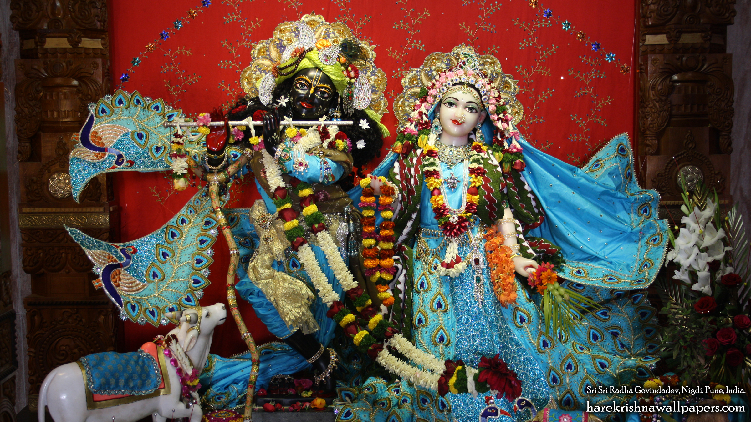 Sri Sri Radha Govind Wallpaper (033) Size 2400x1350 Download