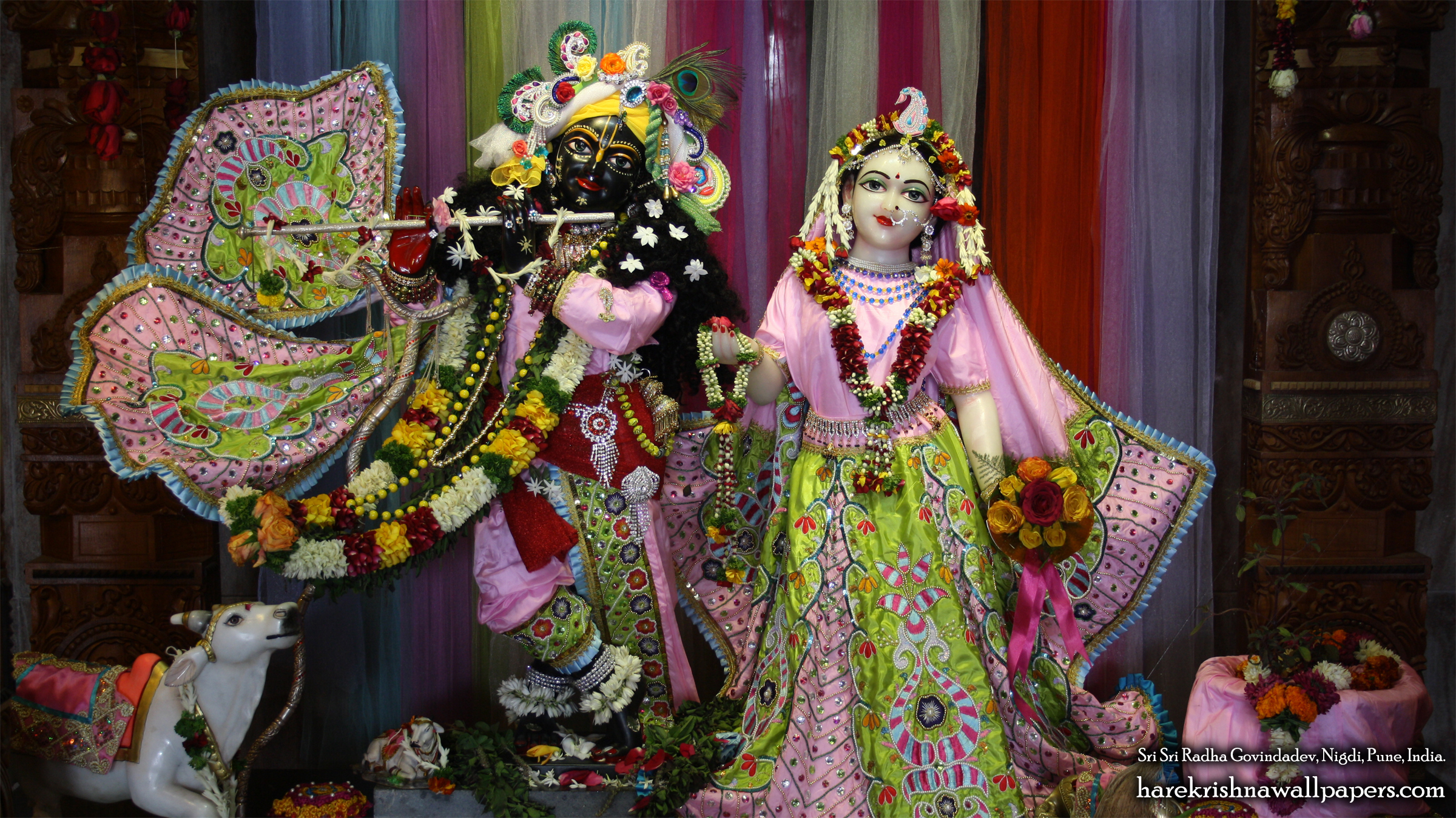 Sri Sri Radha Govind Wallpaper (038) Size 2400x1350 Download