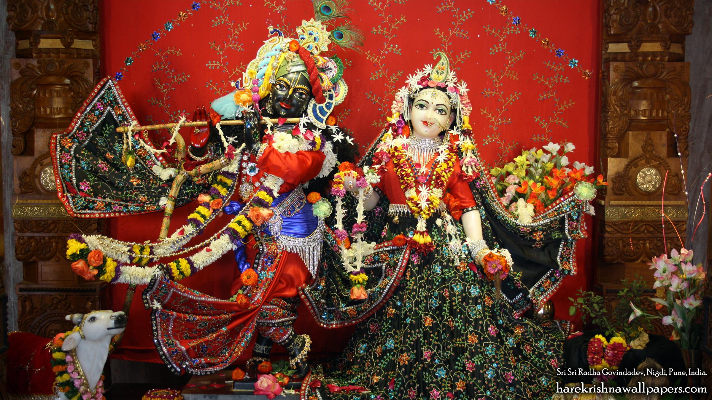 Sri Sri Radha Govind Wallpaper (042) Size 2400x1350 Download