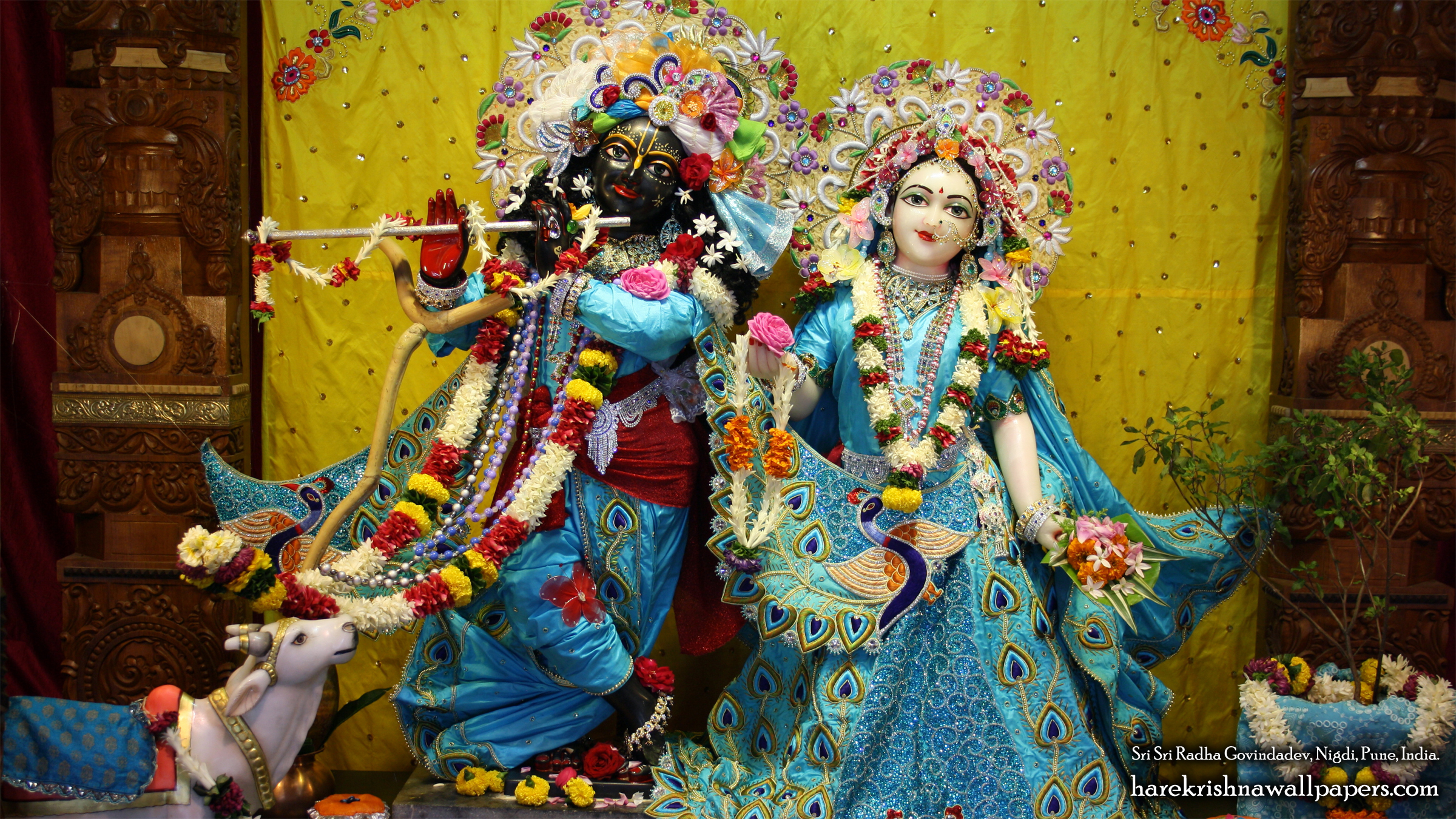 Sri Sri Radha Govind Wallpaper (044) Size 2400x1350 Download
