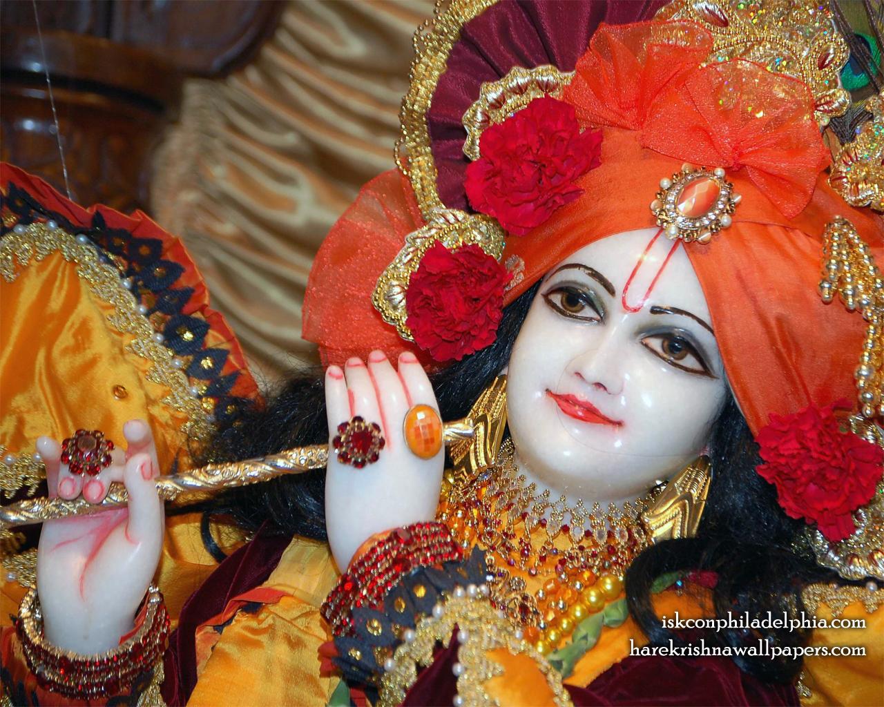 Sri Krishna Close up Wallpaper (001) Size 1280x1024 Download