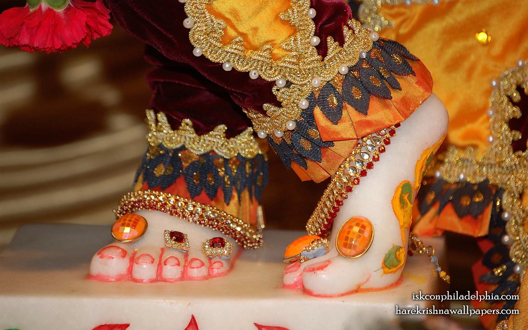 Sri Krishna Feet Wallpaper (001) Size 1680x1050 Download