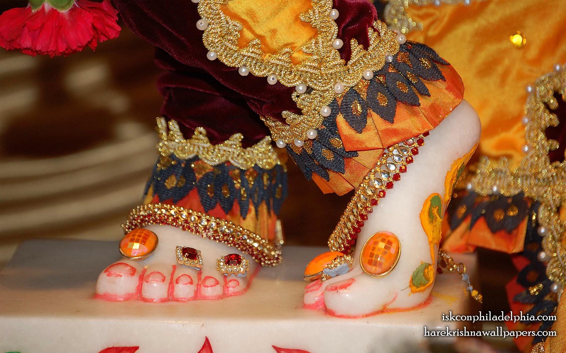 Sri Krishna Feet Wallpaper (001) Size 1920x1200 Download