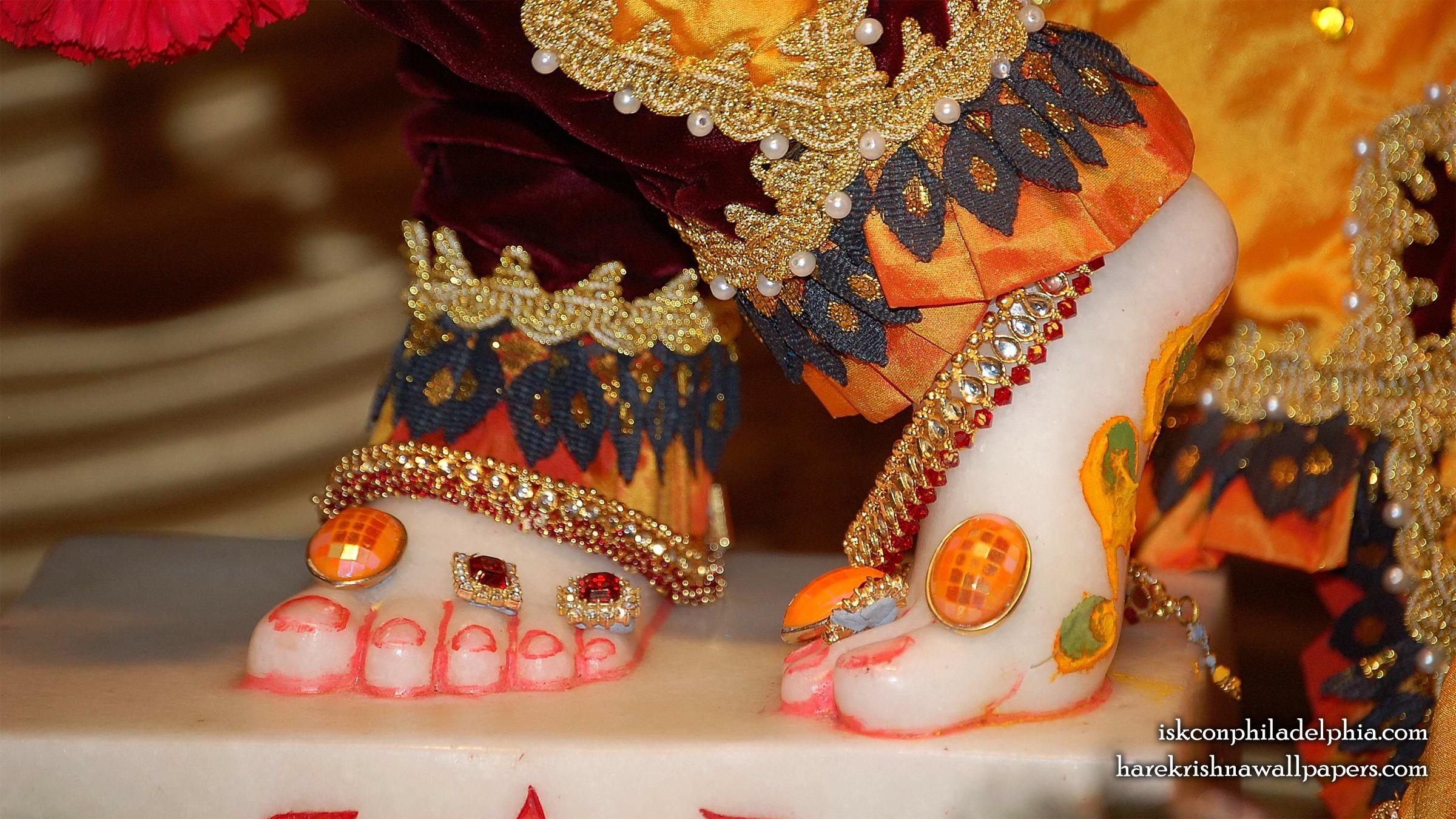 Sri Krishna Feet Wallpaper (001) Size 2400x1350 Download
