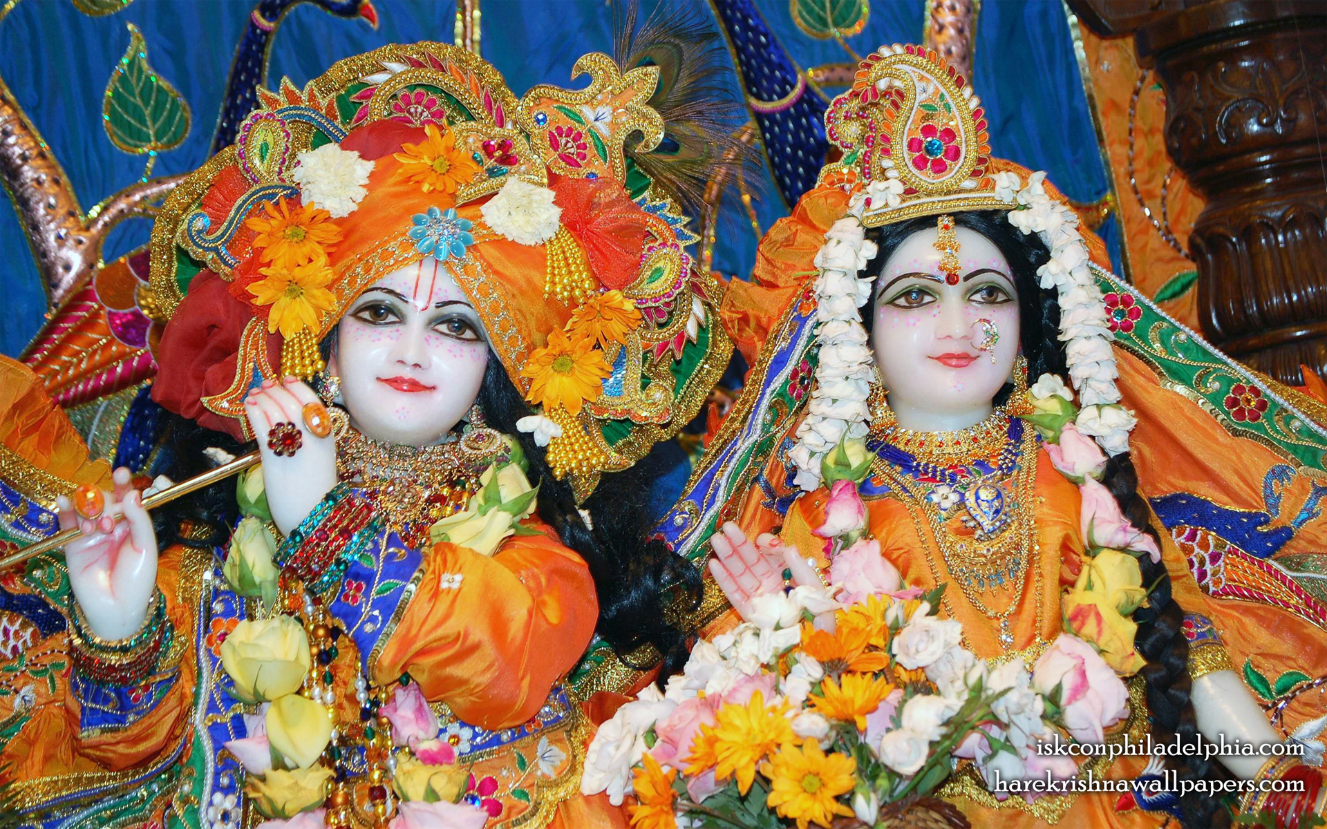 Sri Sri Radha Krishna Close up Wallpaper (001) Size 1920x1200 Download