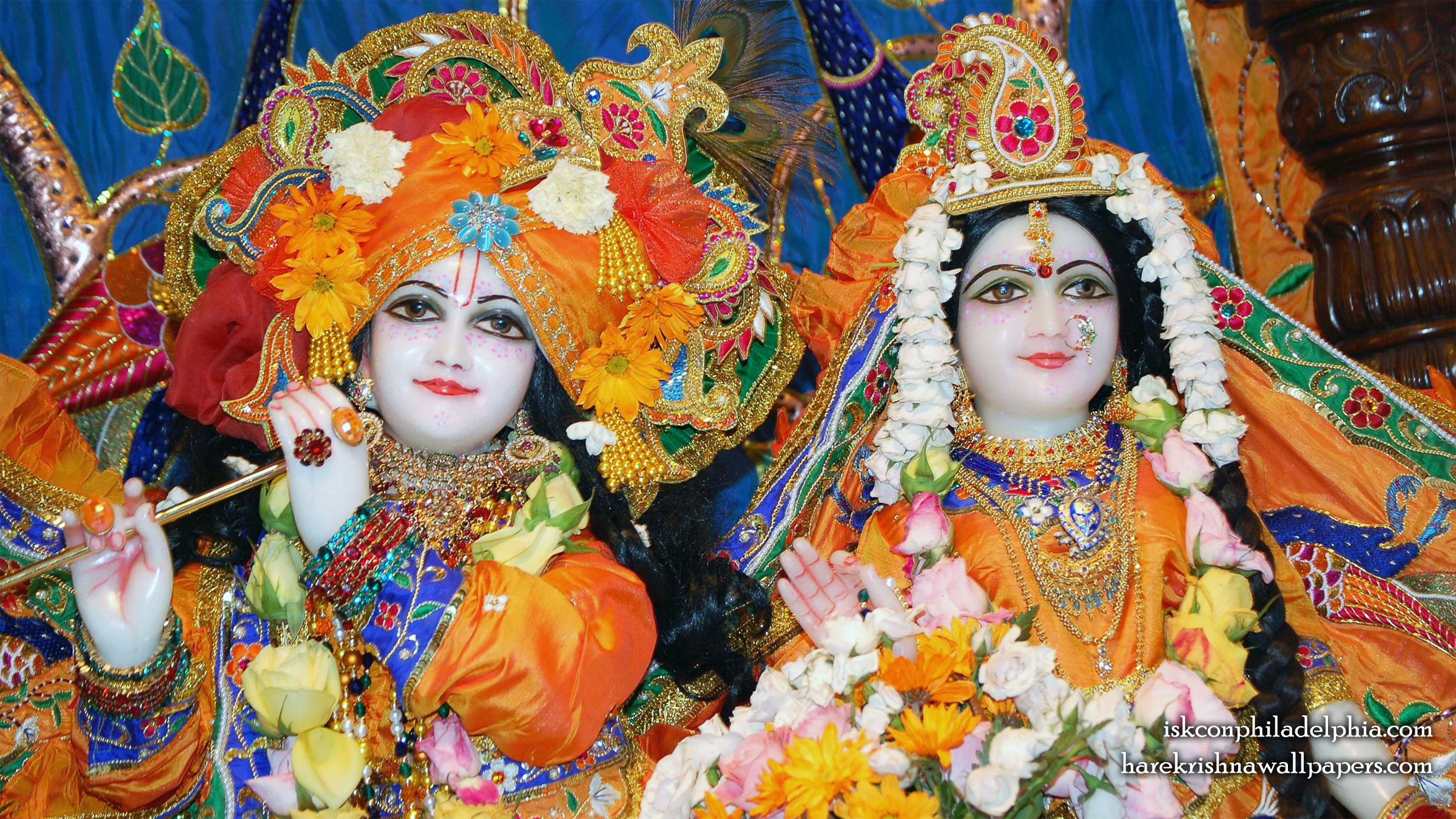 Sri Sri Radha Krishna Close up Wallpaper (001) Size 2400x1350 Download