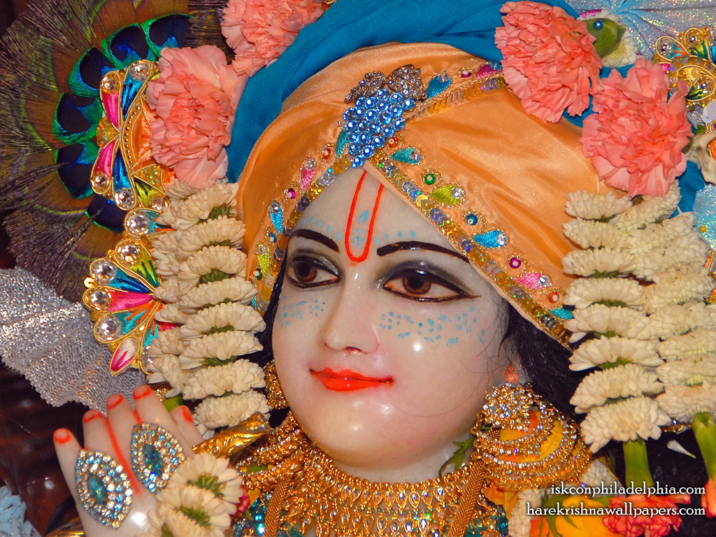 Sri Krishna Close up Wallpaper (002) Size 1024x768 Download