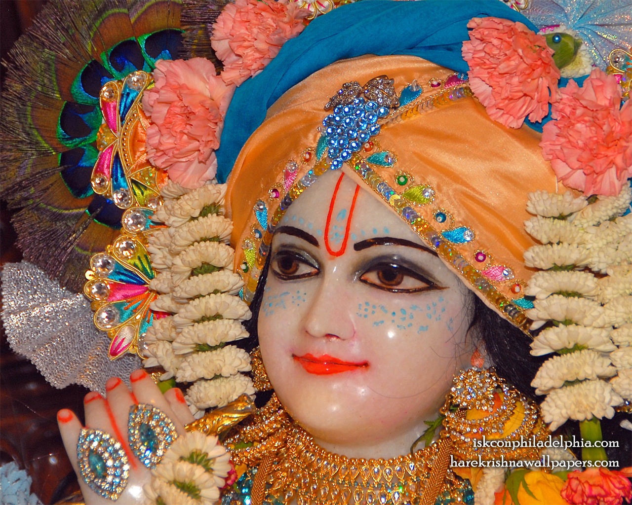 Sri Krishna Close up Wallpaper (002) Size 1280x1024 Download