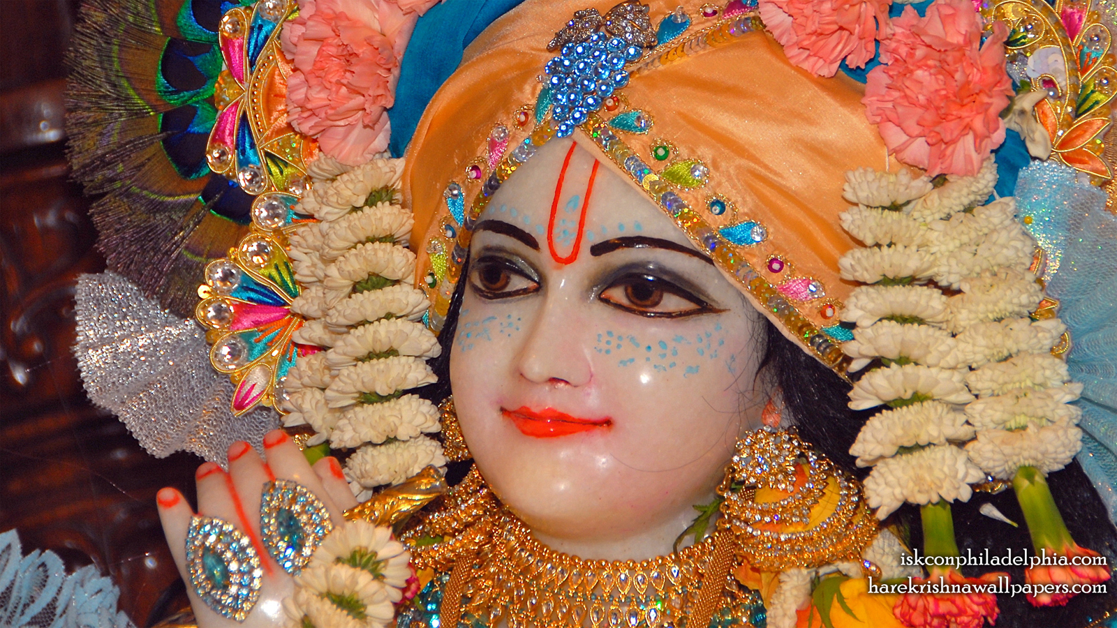 Sri Krishna Close up Wallpaper (002) Size 1600x900 Download