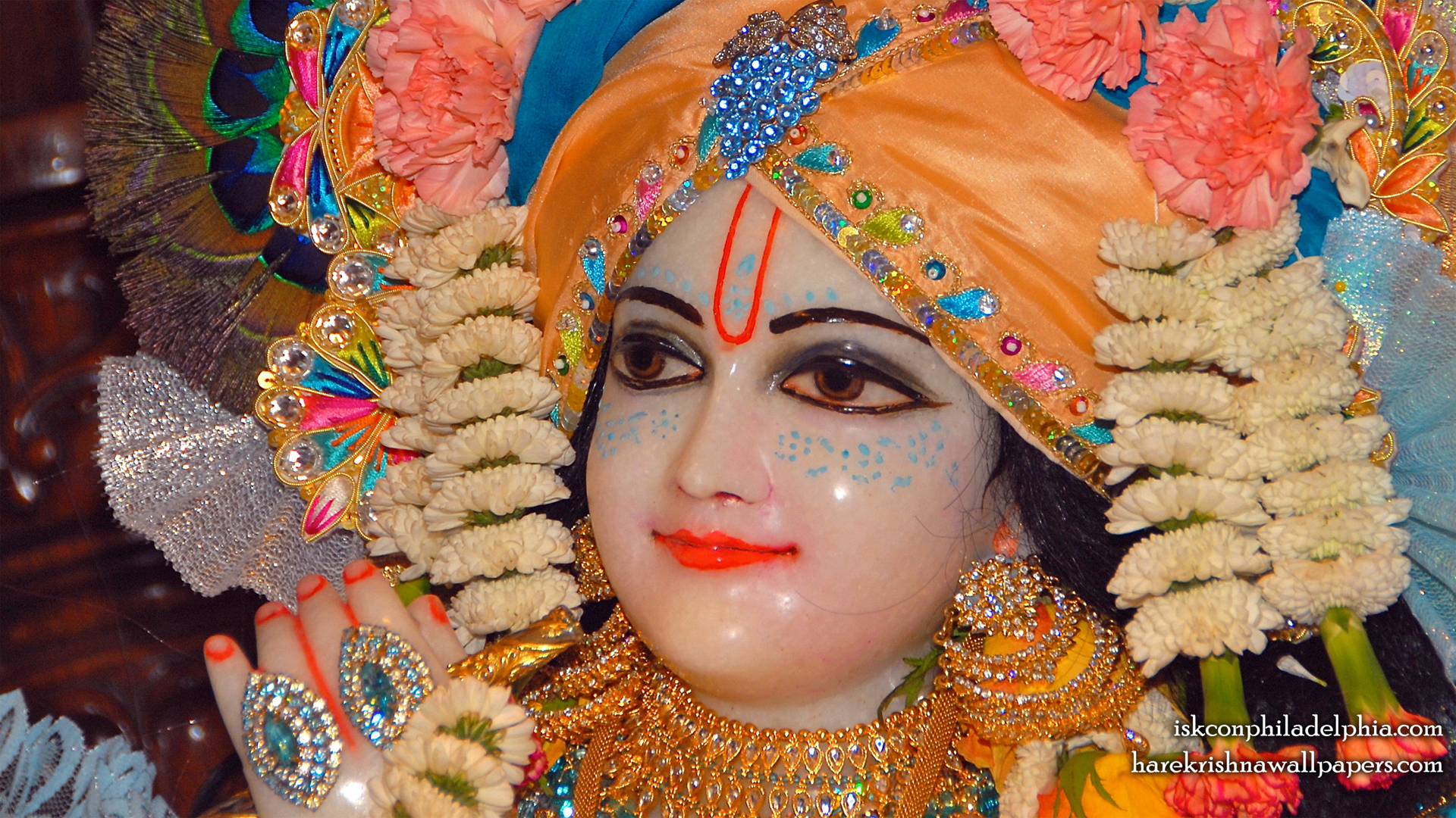 Sri Krishna Close up Wallpaper (002) Size 1920x1080 Download