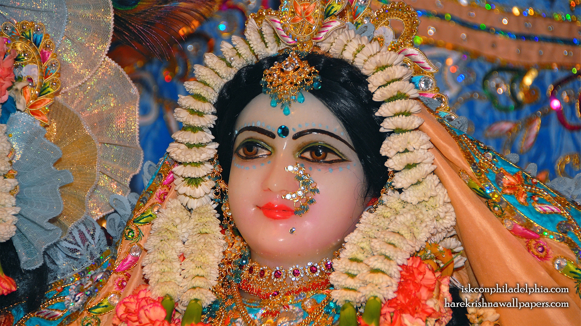 Sri Radha Close up Wallpaper (002) Size 1920x1080 Download
