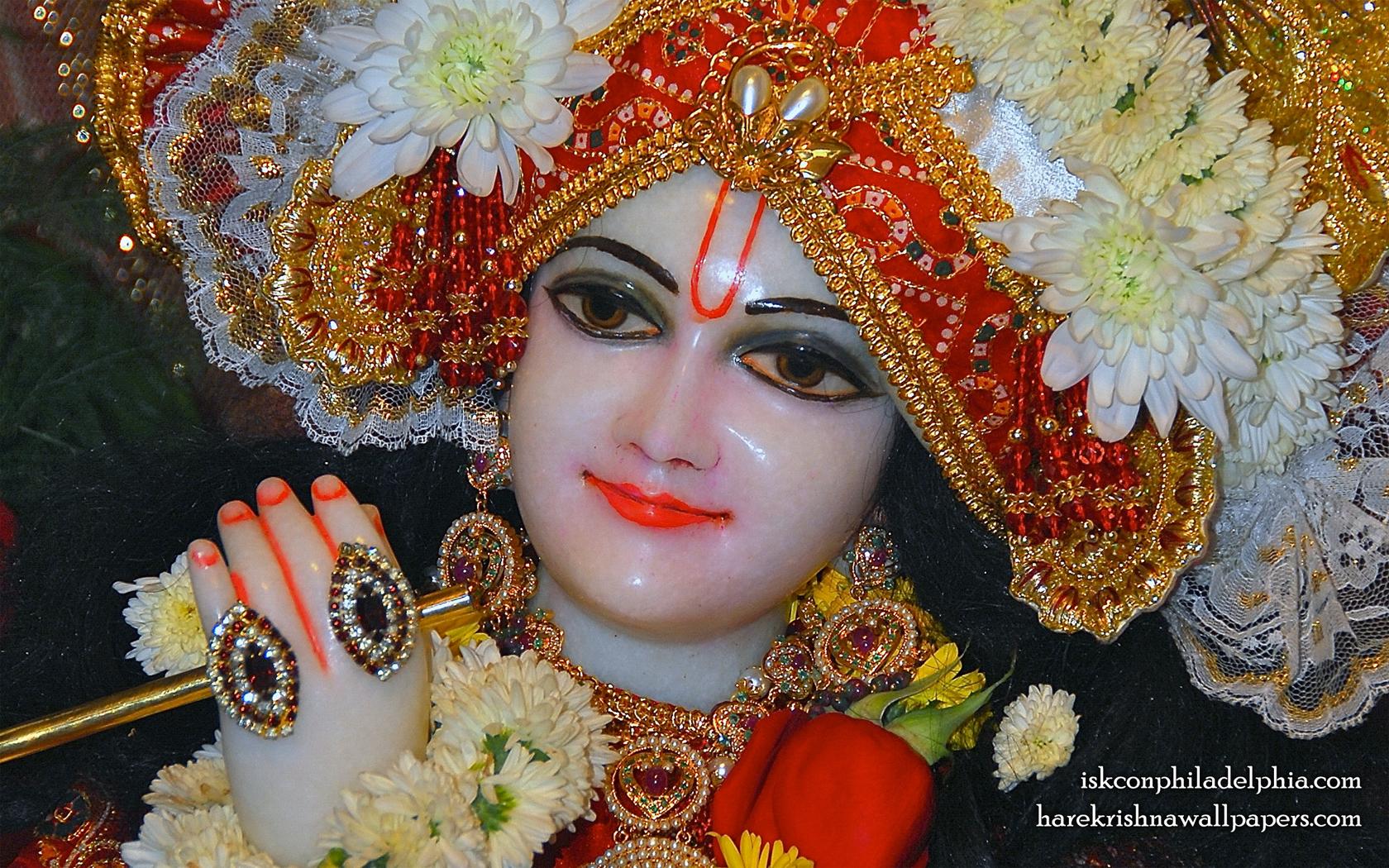 Sri Krishna Close up Wallpaper (003) Size 1680x1050 Download