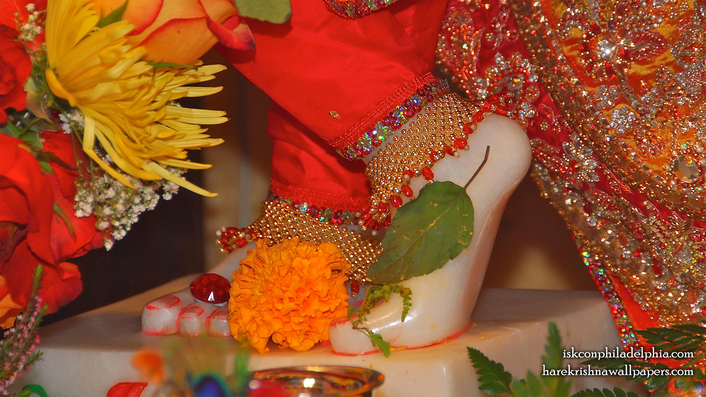 Sri Krishna Feet Wallpaper (003) Size 2400x1350 Download