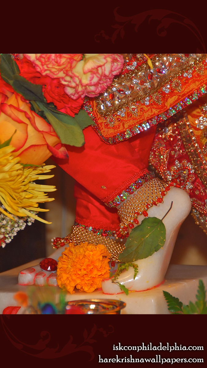 Sri Krishna Feet Wallpaper (003) Size 675x1200 Download