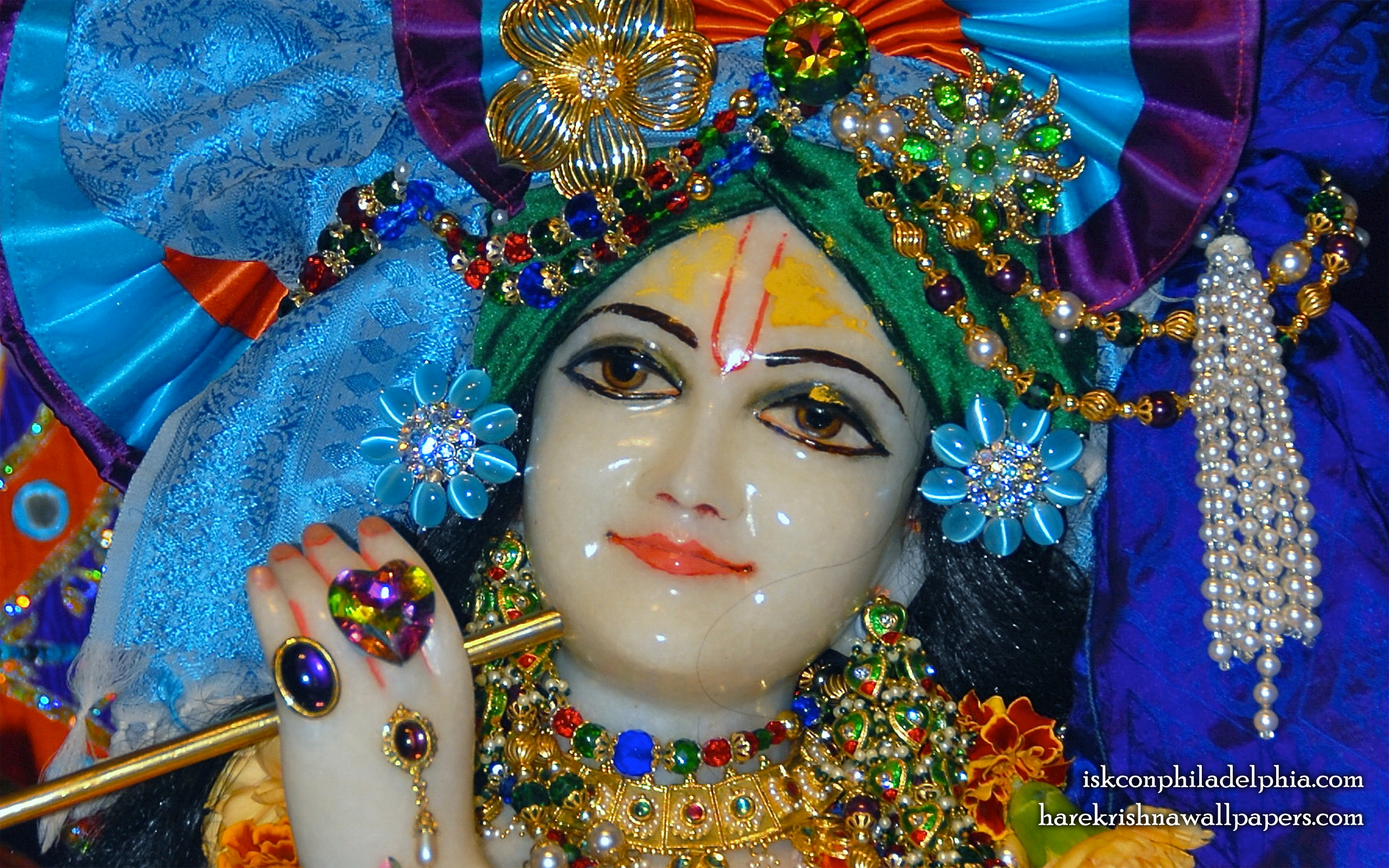 Sri Krishna Close up Wallpaper (004) Size 2560x1600 Download