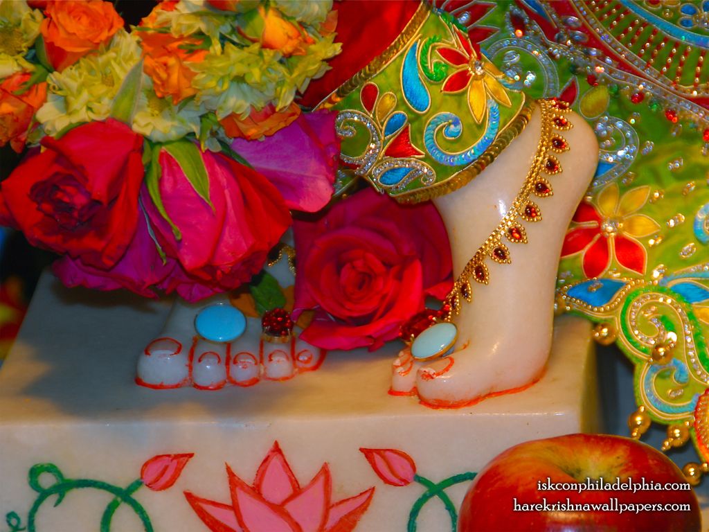 Sri Krishna Feet Wallpaper (004) Size 1024x768 Download