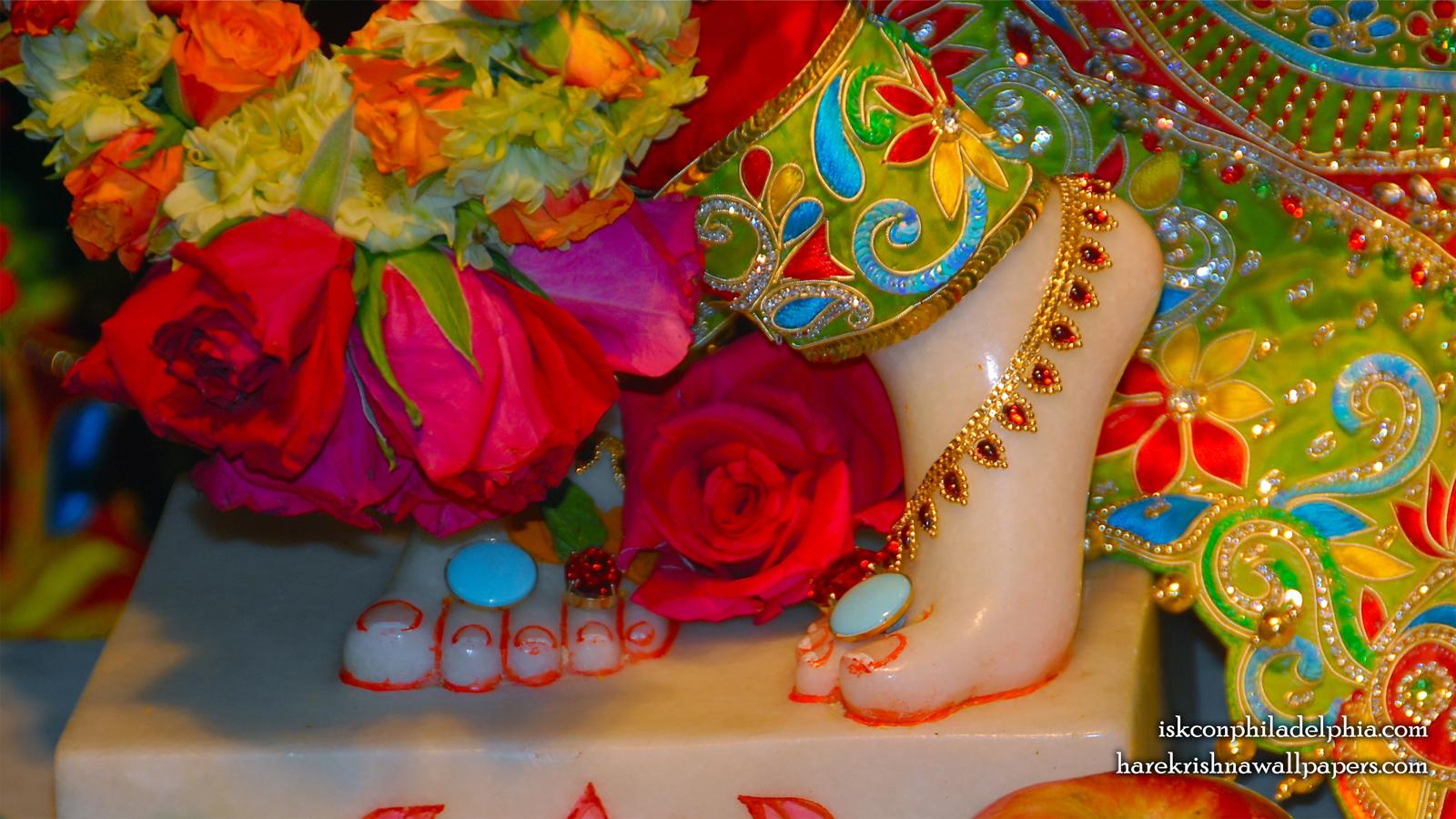 Sri Krishna Feet Wallpaper (004) Size 1600x900 Download