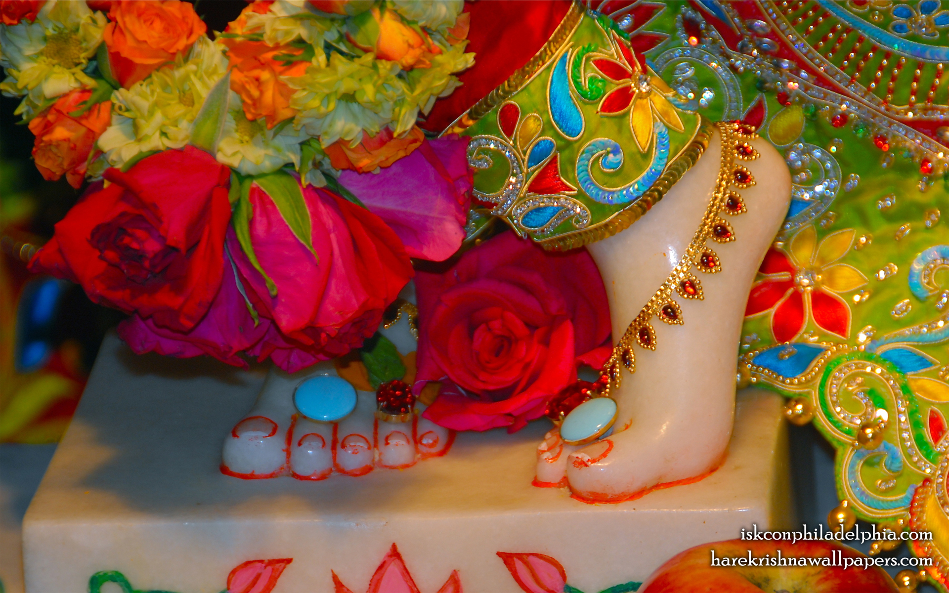 Sri Krishna Feet Wallpaper (004) Size 1920x1200 Download