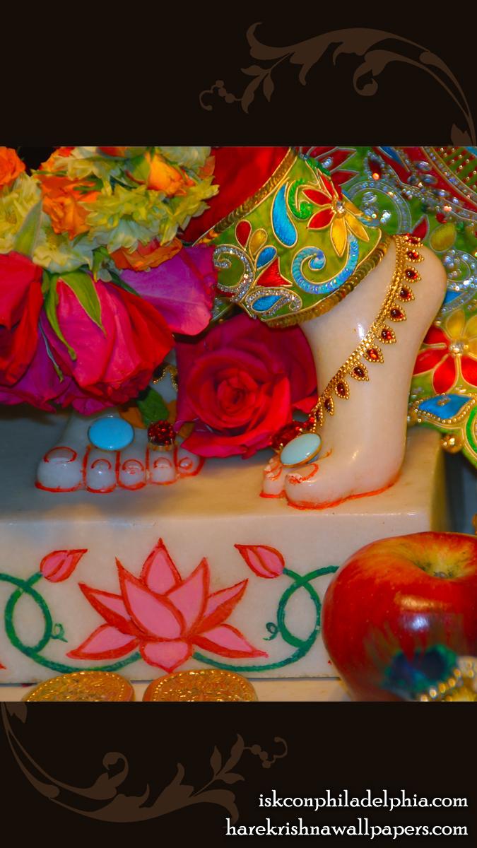 Sri Krishna Feet Wallpaper (004) Size 675x1200 Download