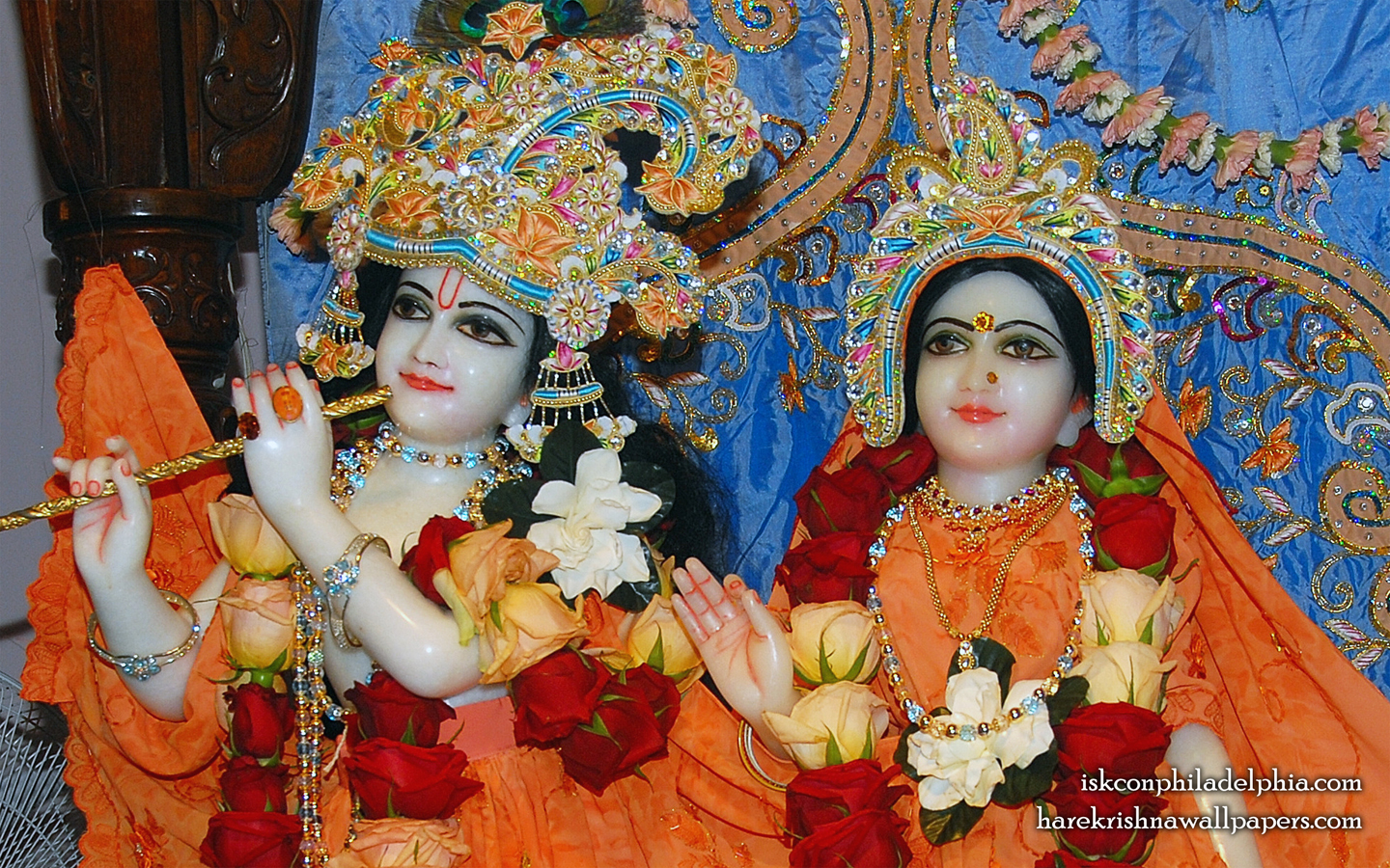 Sri Sri Radha Krishna Close up Wallpaper (004) Size 1440x900 Download