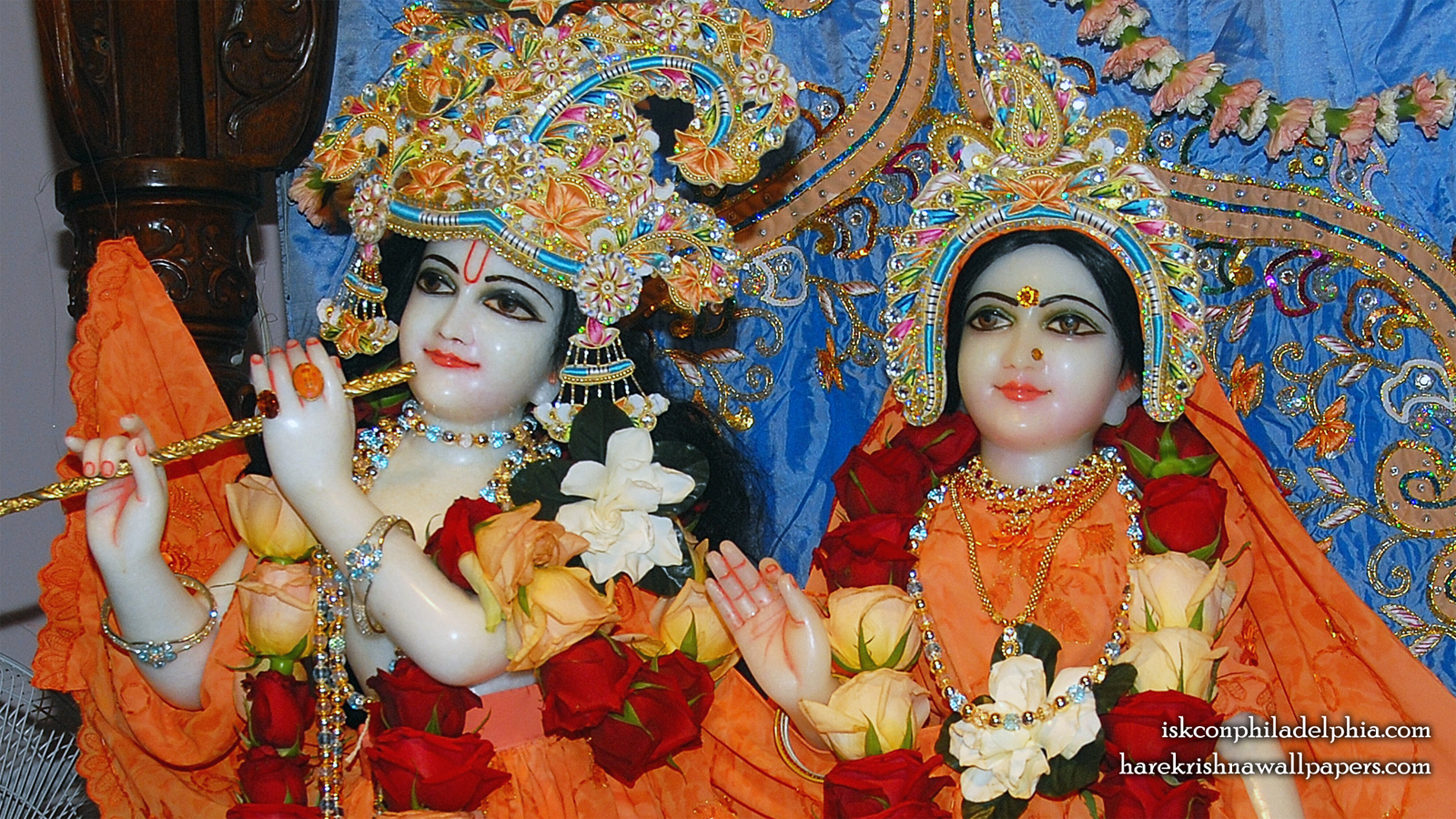 Sri Sri Radha Krishna Close up Wallpaper (004) Size 1600x900 Download
