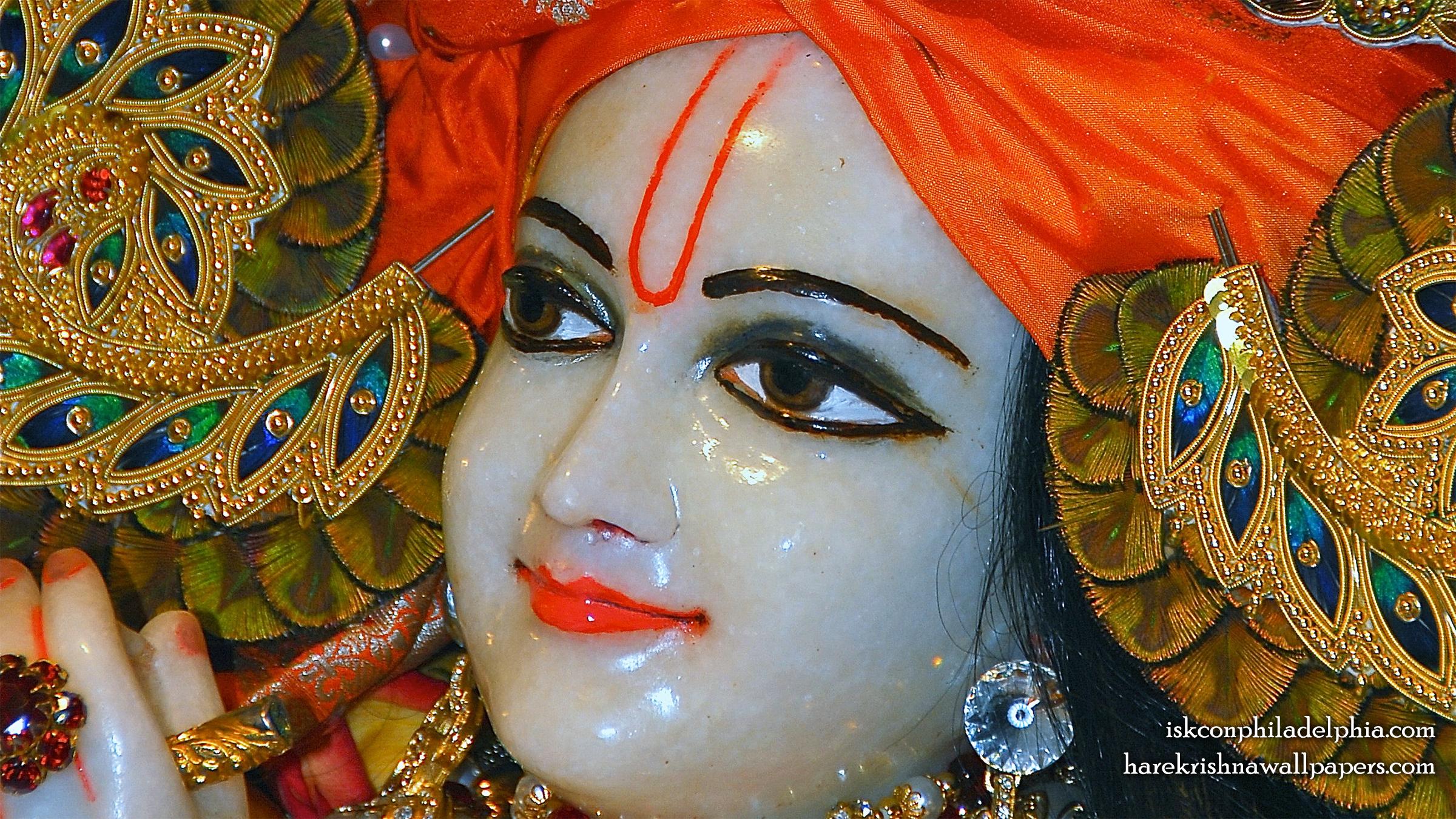 Sri Krishna Close up Wallpaper (005) Size 2400x1350 Download