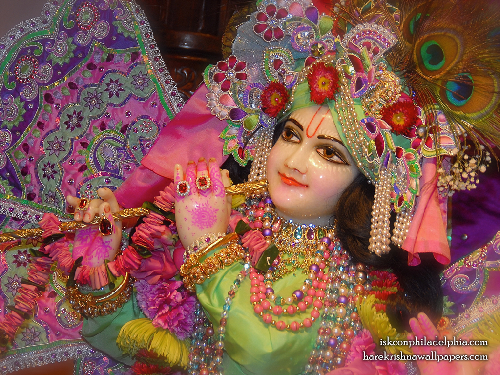 Sri Krishna Close up Wallpaper (006) Size 1024x768 Download