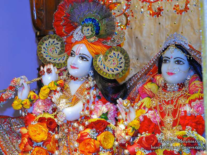 Sri Sri Radha Krishna Close up Wallpaper (006)