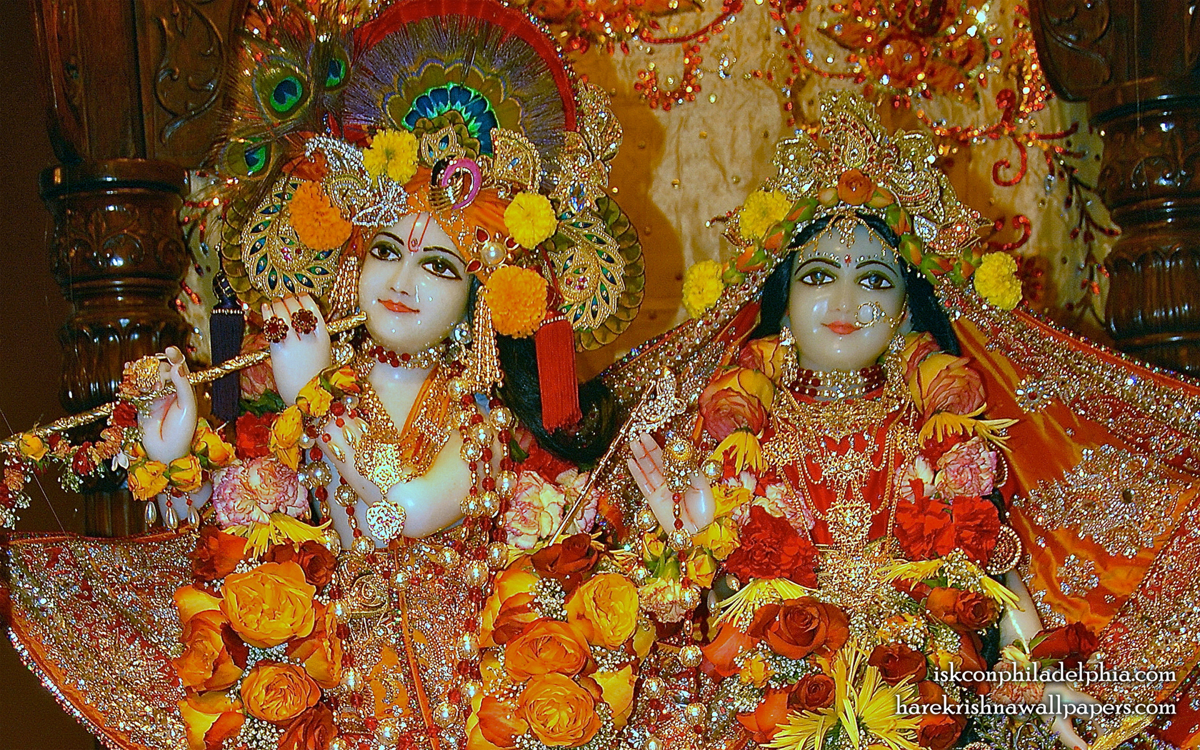 Sri Sri Radha Krishna Close up Wallpaper (007) Size 1680x1050 Download