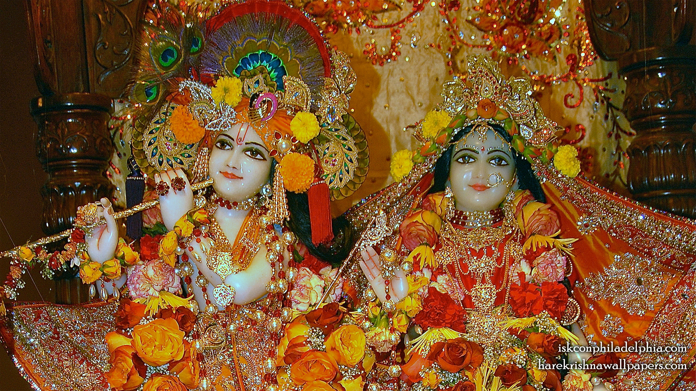 Sri Sri Radha Krishna Close up Wallpaper (007) Size 2400x1350 Download