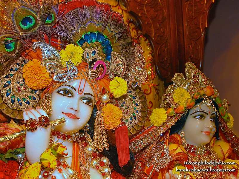 Sri Sri Radha Krishna Close up Wallpaper (008)