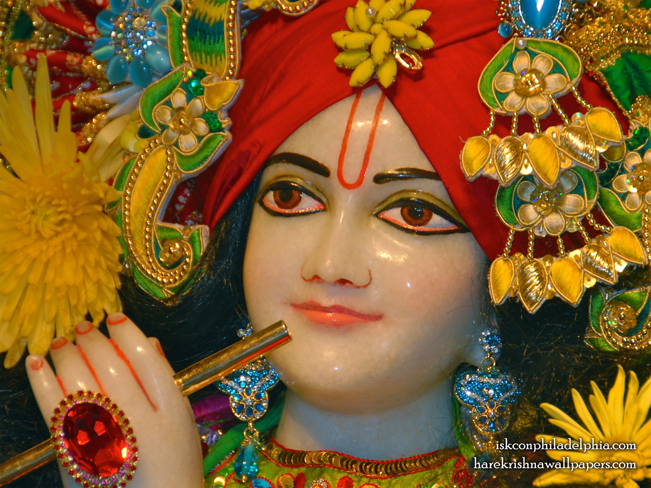 Sri Krishna Close up Wallpaper (009) Size 1280x960 Download