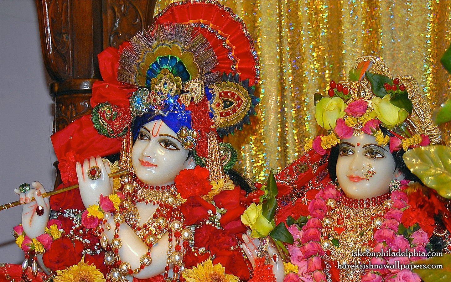 Sri Sri Radha Krishna Close up Wallpaper (009) Size 1440x900 Download