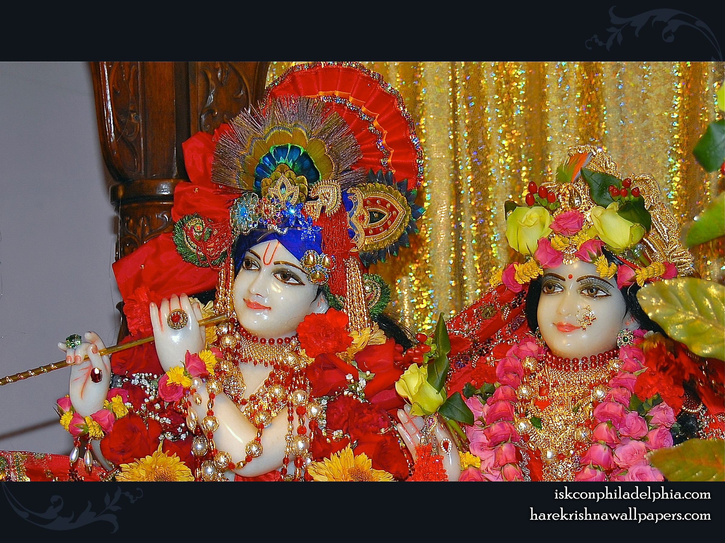 Sri Sri Radha Krishna Close up Wallpaper (009) Size 2400x1800 Download