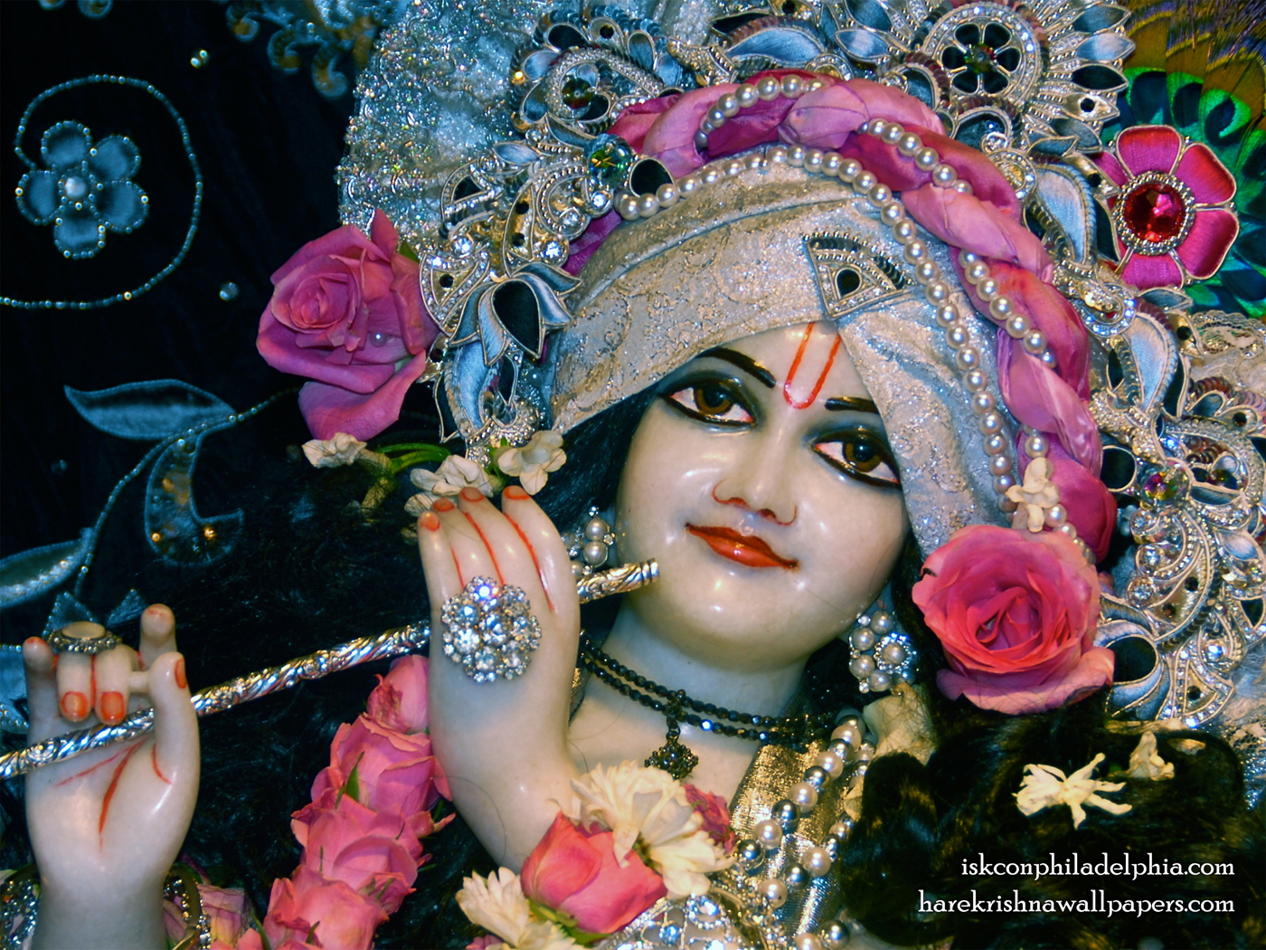 Sri Krishna Close up Wallpaper (010) Size 1400x1050 Download
