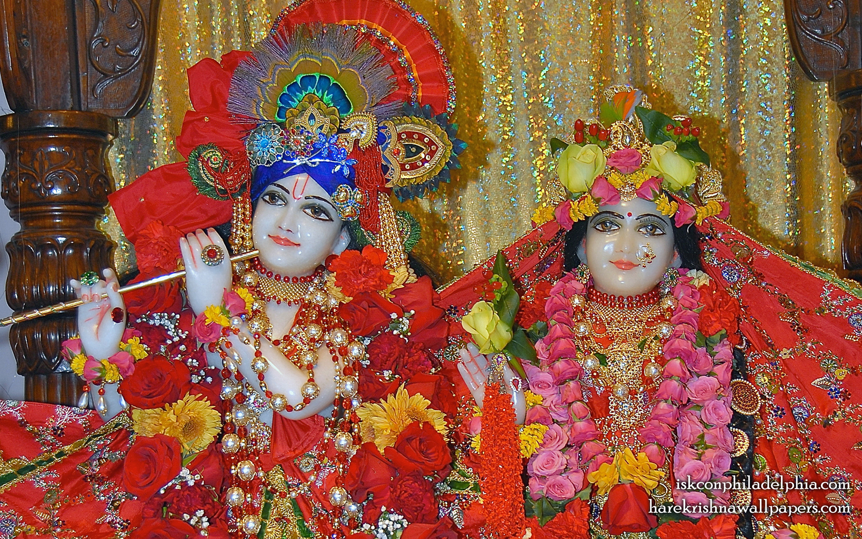Sri Sri Radha Krishna Close up Wallpaper (010) Size 1680x1050 Download