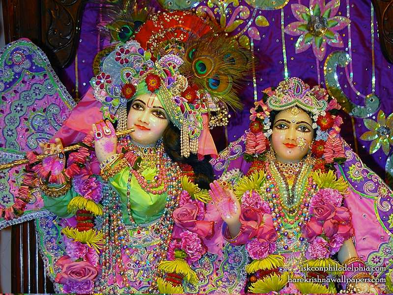 Sri Sri Radha Krishna Close up Wallpaper (011)