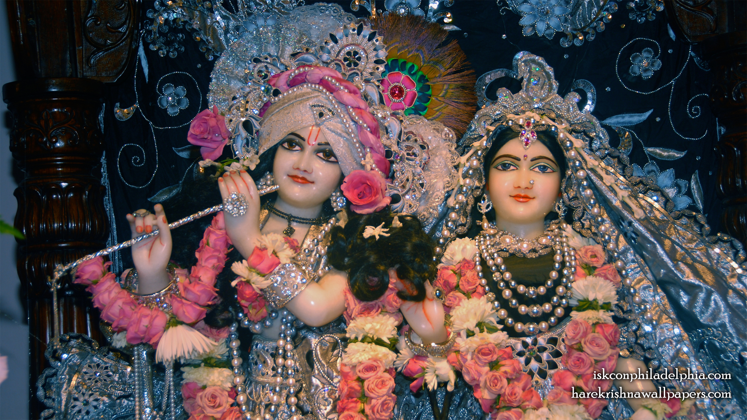 Sri Sri Radha Krishna Close up Wallpaper (013) Size 2400x1350 Download