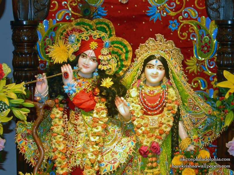 Sri Sri Radha Krishna Close up Wallpaper (014)