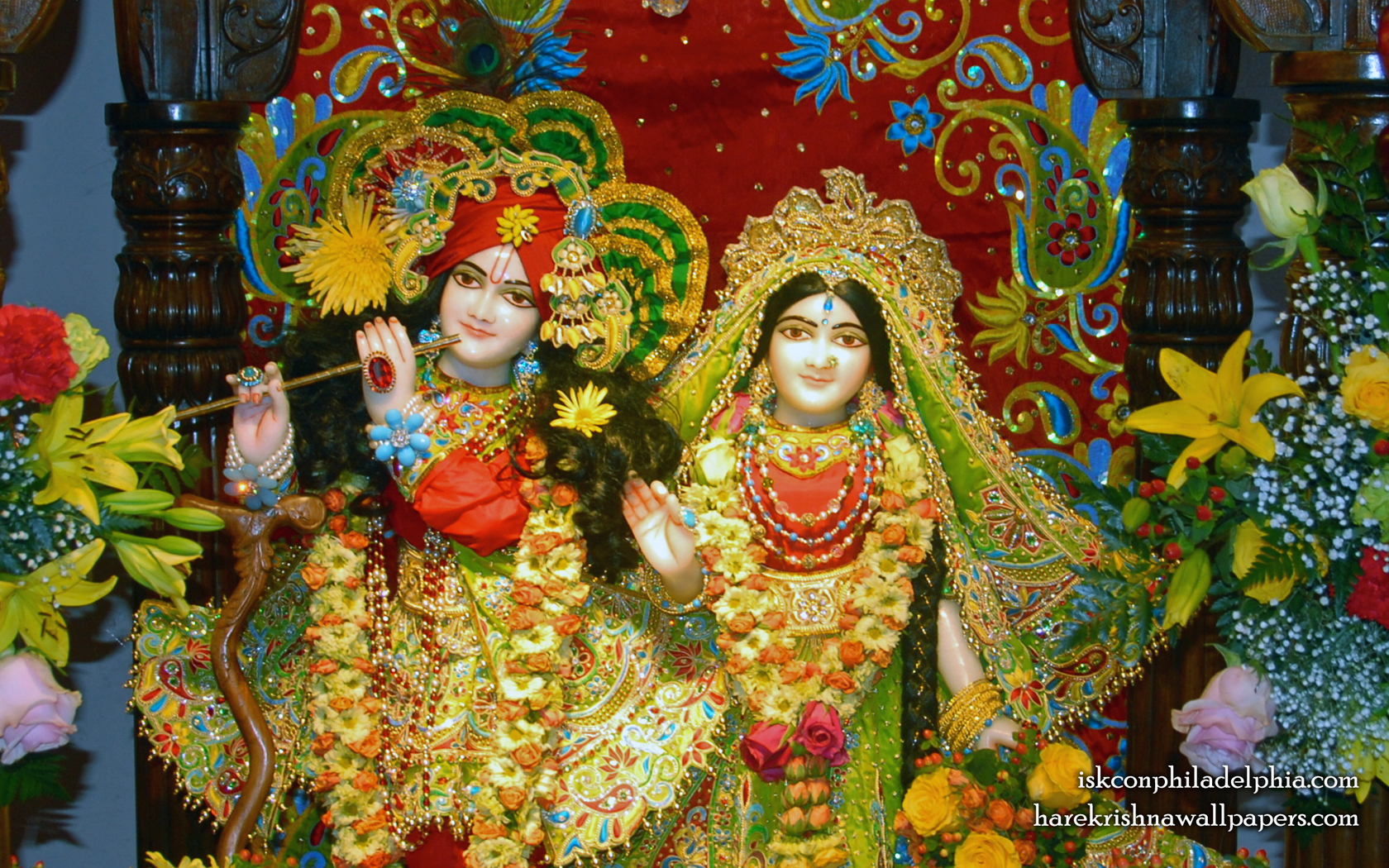 Sri Sri Radha Krishna Close up Wallpaper (014) Size 1680x1050 Download