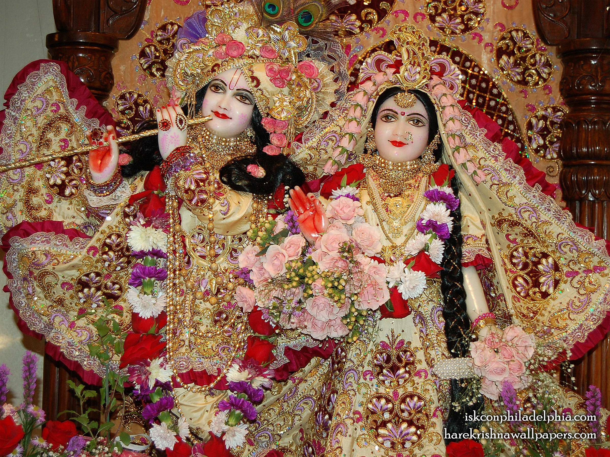 Sri Sri Radha Krishna Close up Wallpaper (015) Size 2400x1800 Download