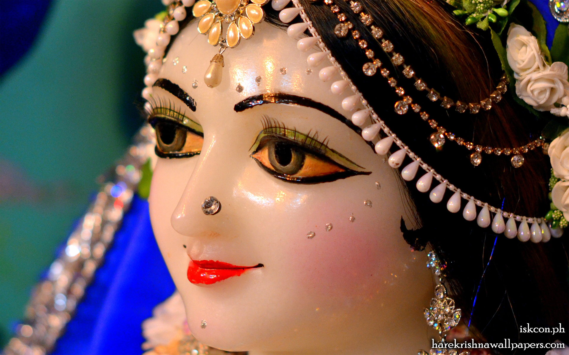Sri Radha Close up Wallpaper (001) Size 1920x1200 Download