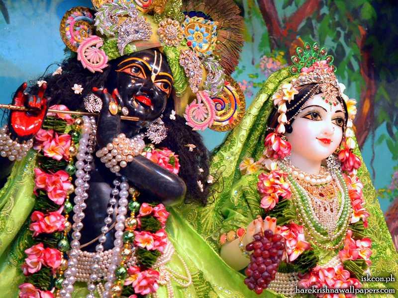 Sri Sri Radha Madhava Close up Wallpaper (001)