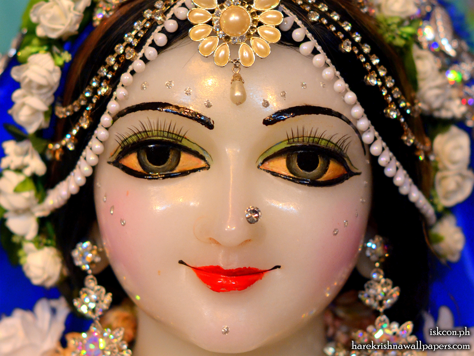 Sri Radha Close up Wallpaper (002) Size1600x1200 Download