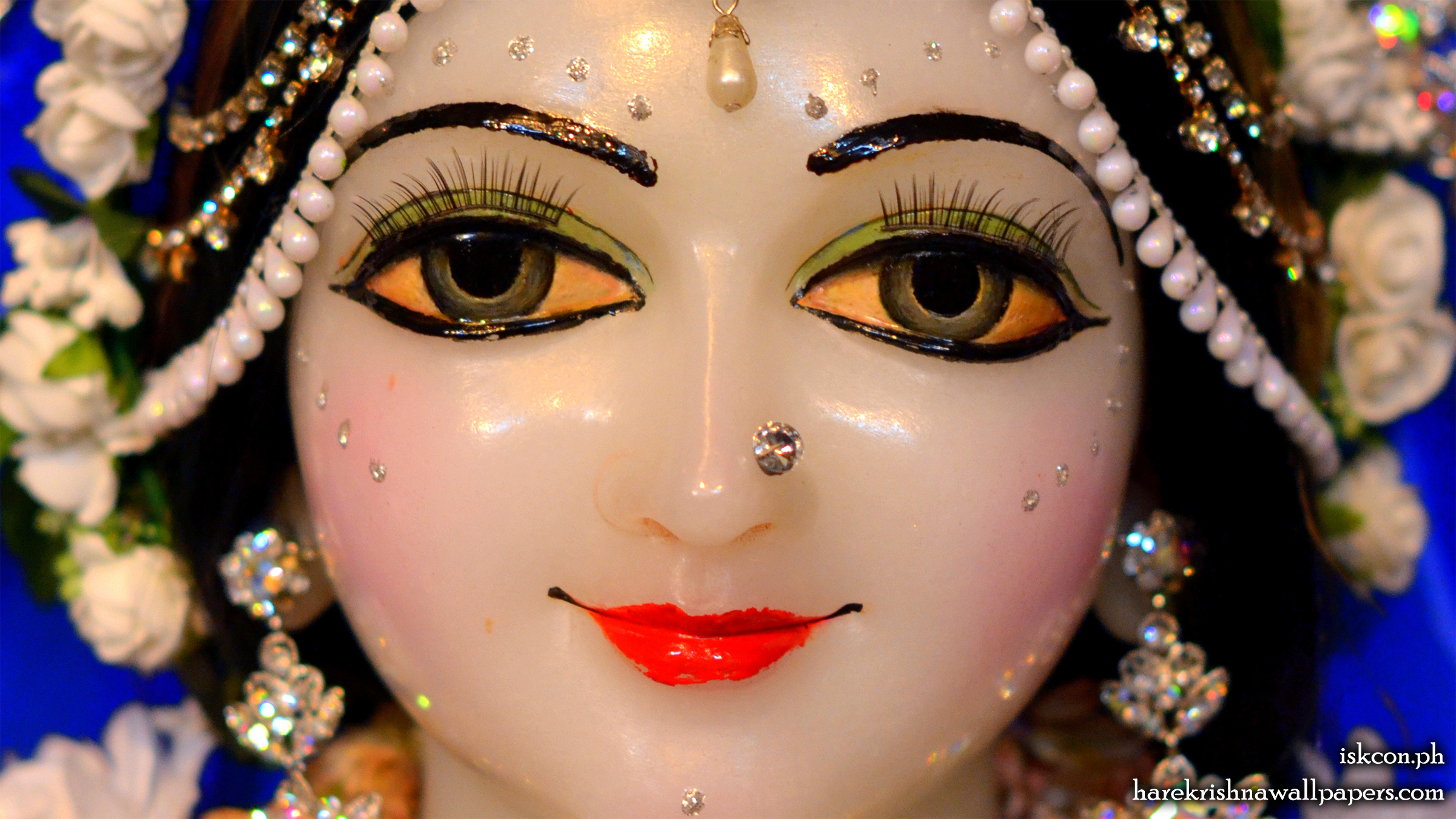 Sri Radha Close up Wallpaper (002) Size 2400x1350 Download